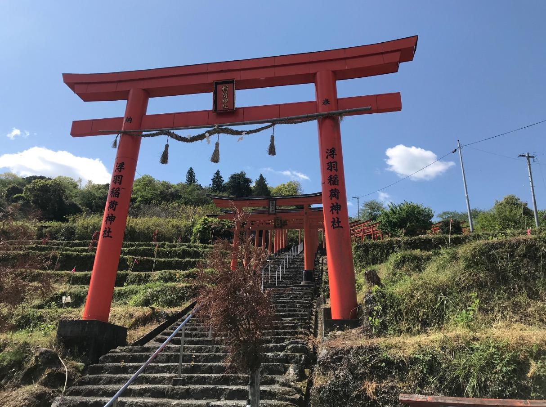 浮羽稲荷神社(下から)