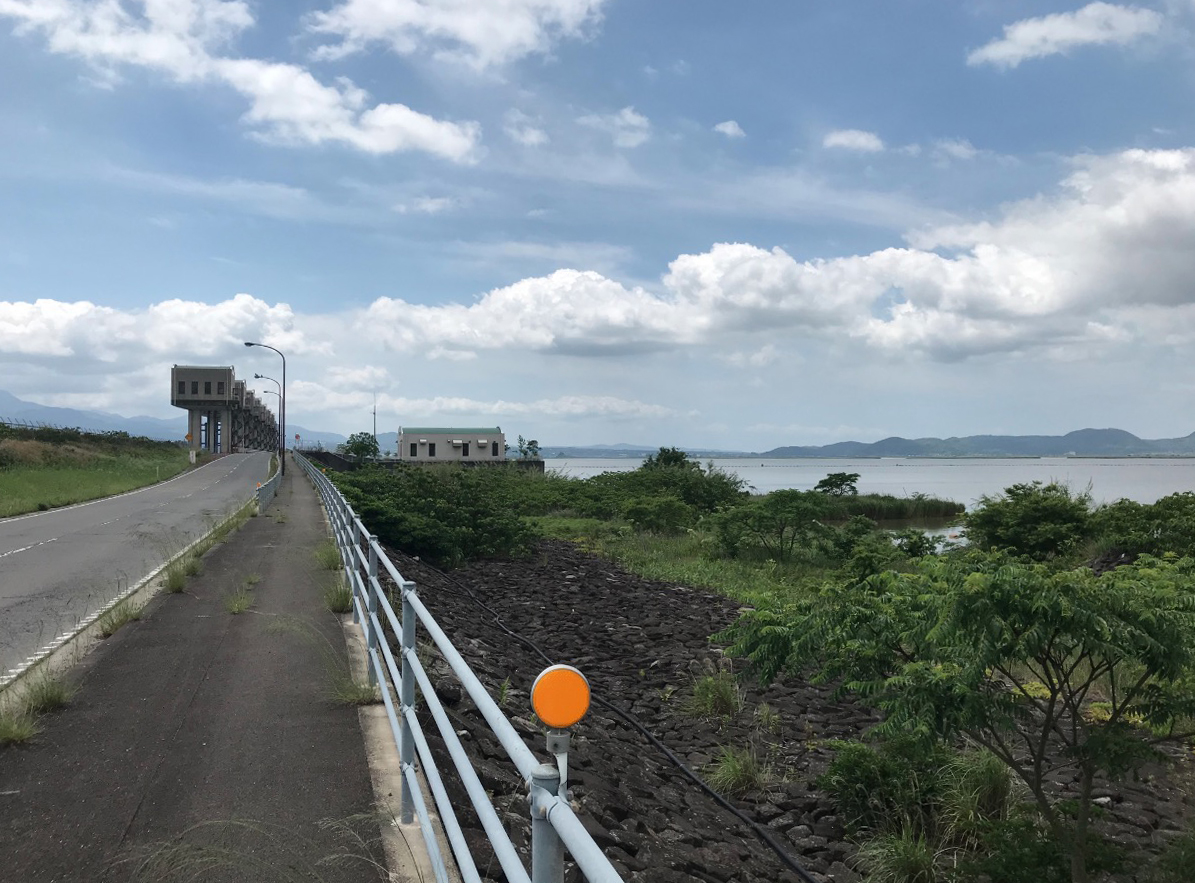 諫早湾干拓堤防道路(雲仙多良シーライン)