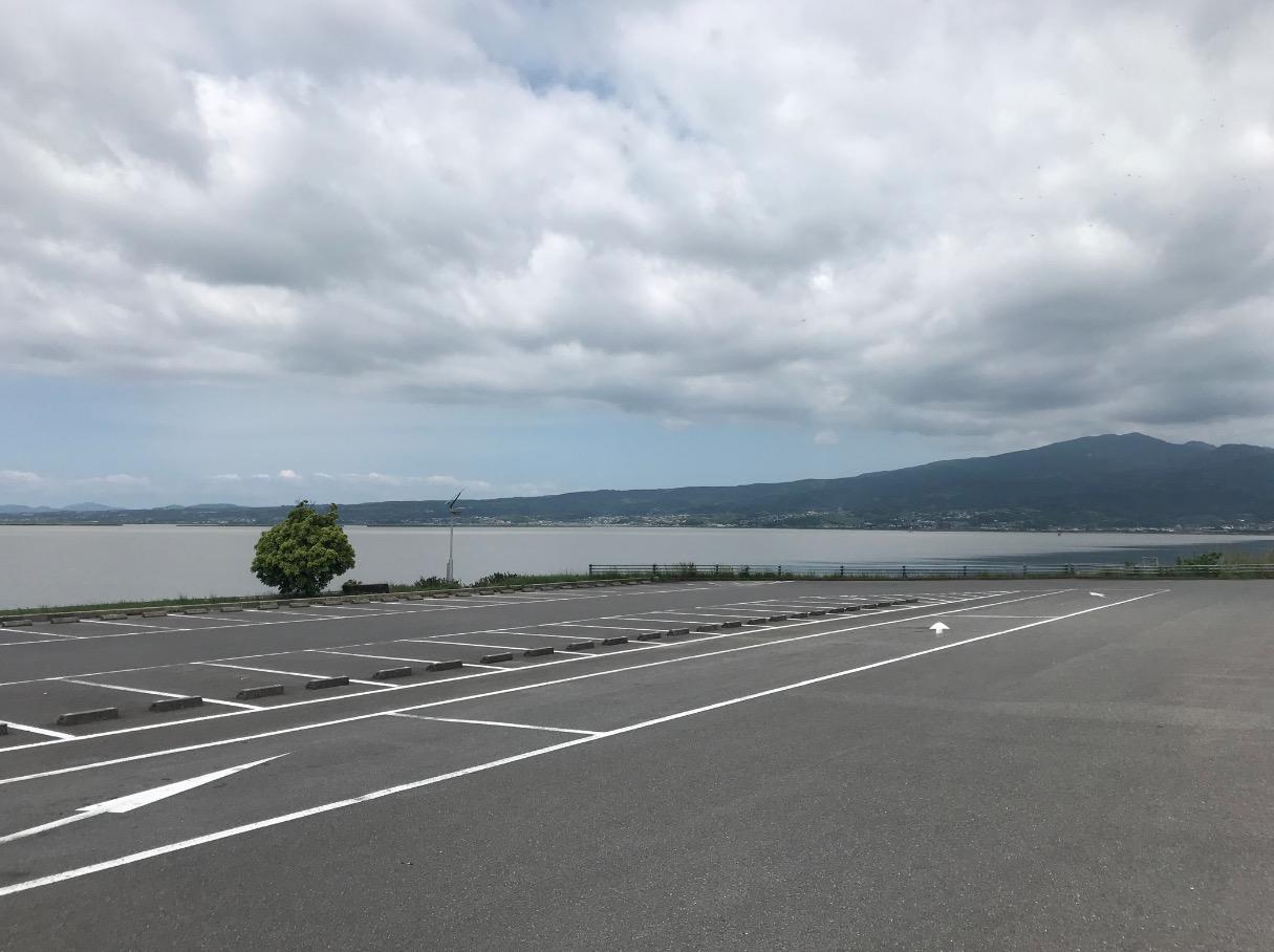 諫早湾干拓堤防道路の駐車場