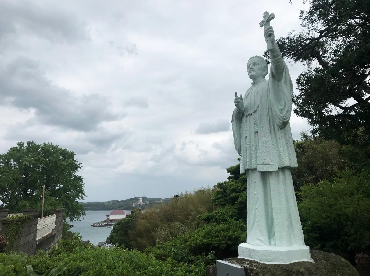 平戸ザビエル記念教会のザビエル像
