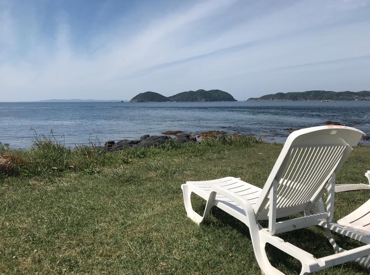 波戸岬から玄海灘を望む