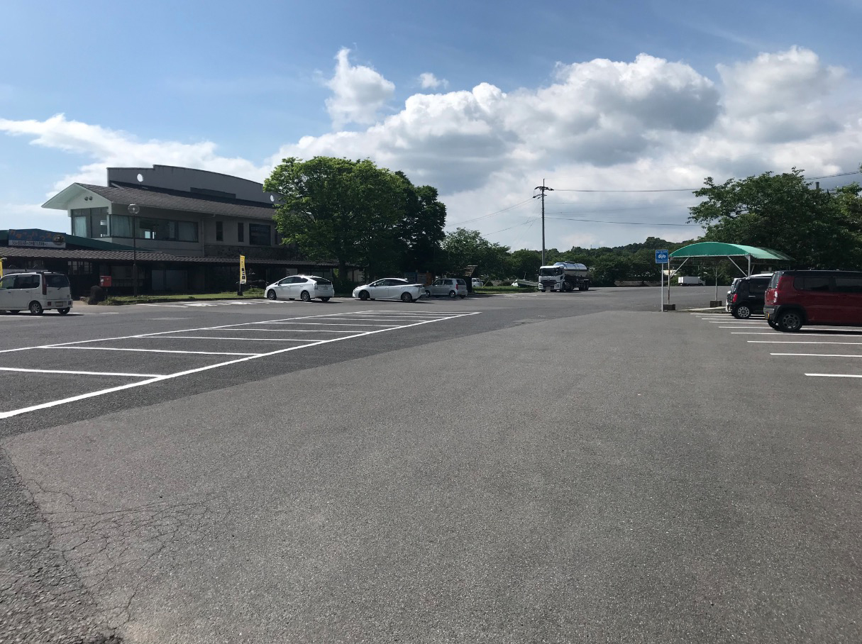 道の駅鹿島の駐車場