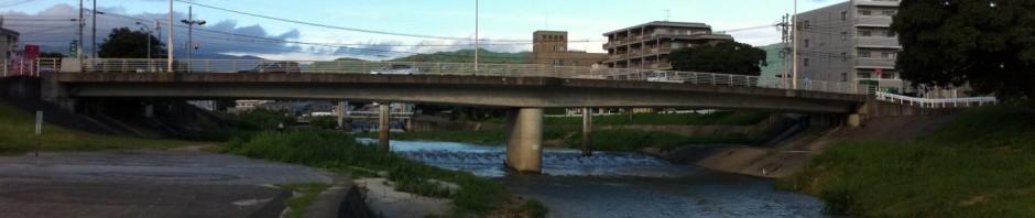 那珂川にかかる警弥郷橋(下流側から)