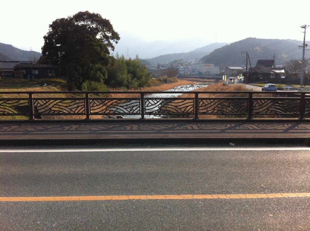 おぎわら橋(那珂川町)の上