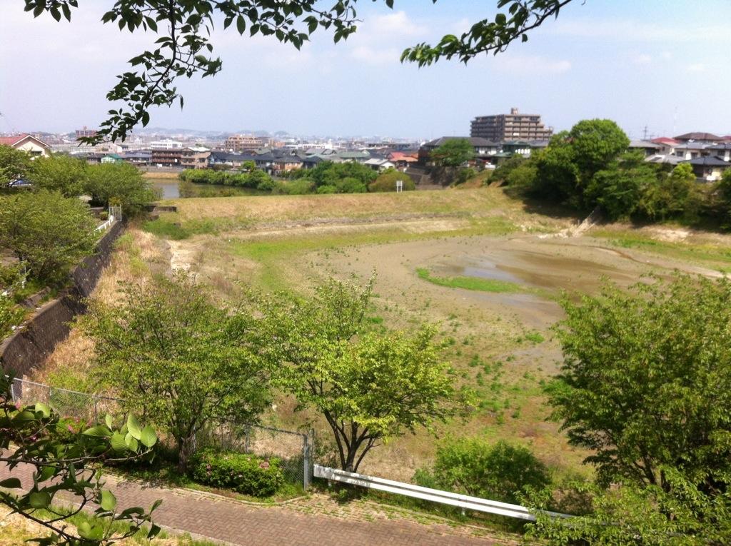 観晴ヶ丘の枯れたため池