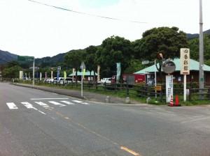 中ノ島公園でホタル見物(那珂川町)