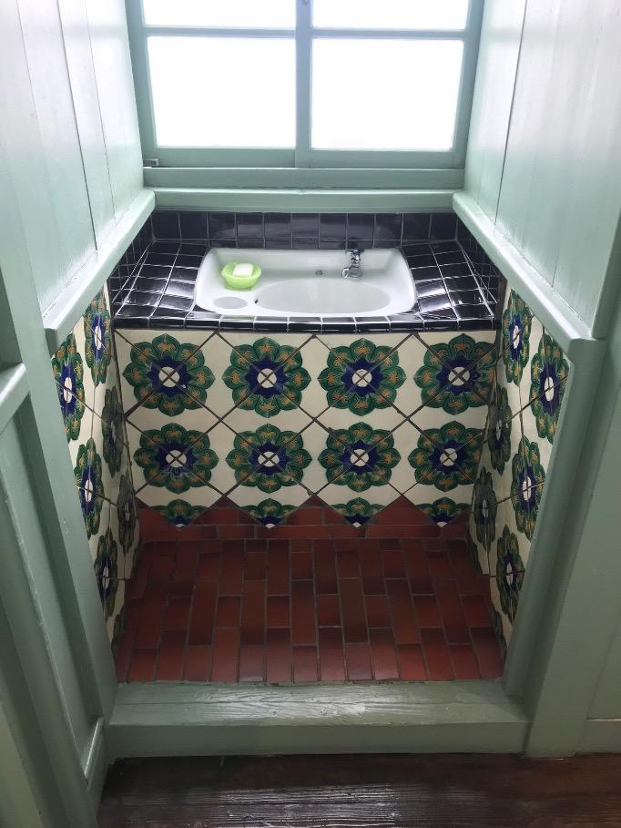大川市立清力美術館の洗面台