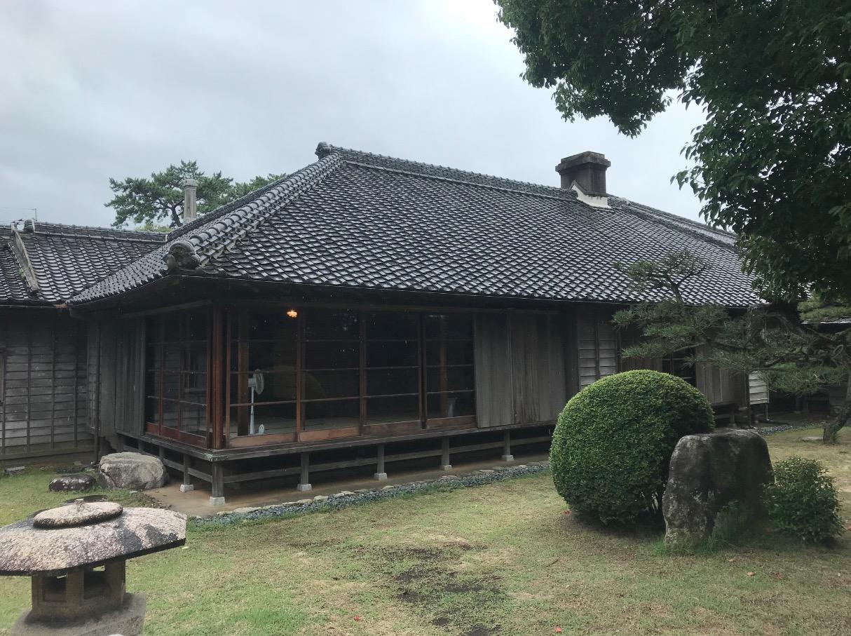 旧高取邸(唐津)庭園側からの外観