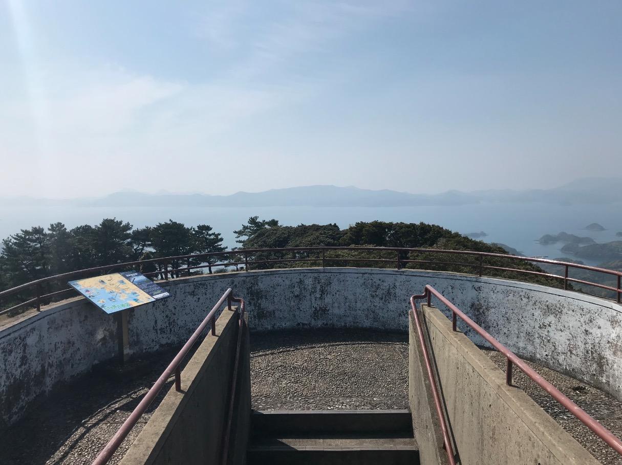 冷水岳公園展望台の最上部