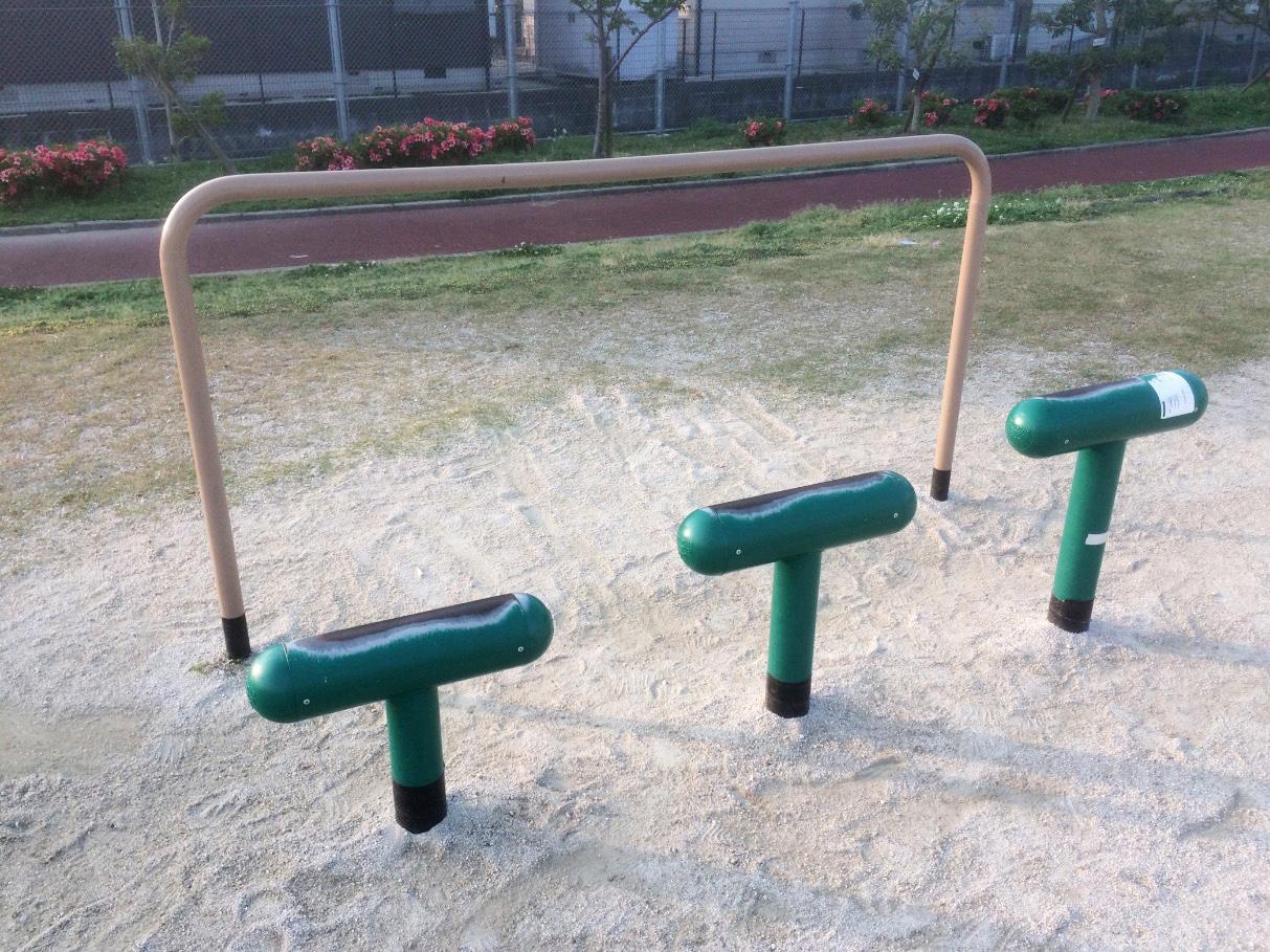 今池公園(那珂川市)の健康増進器具