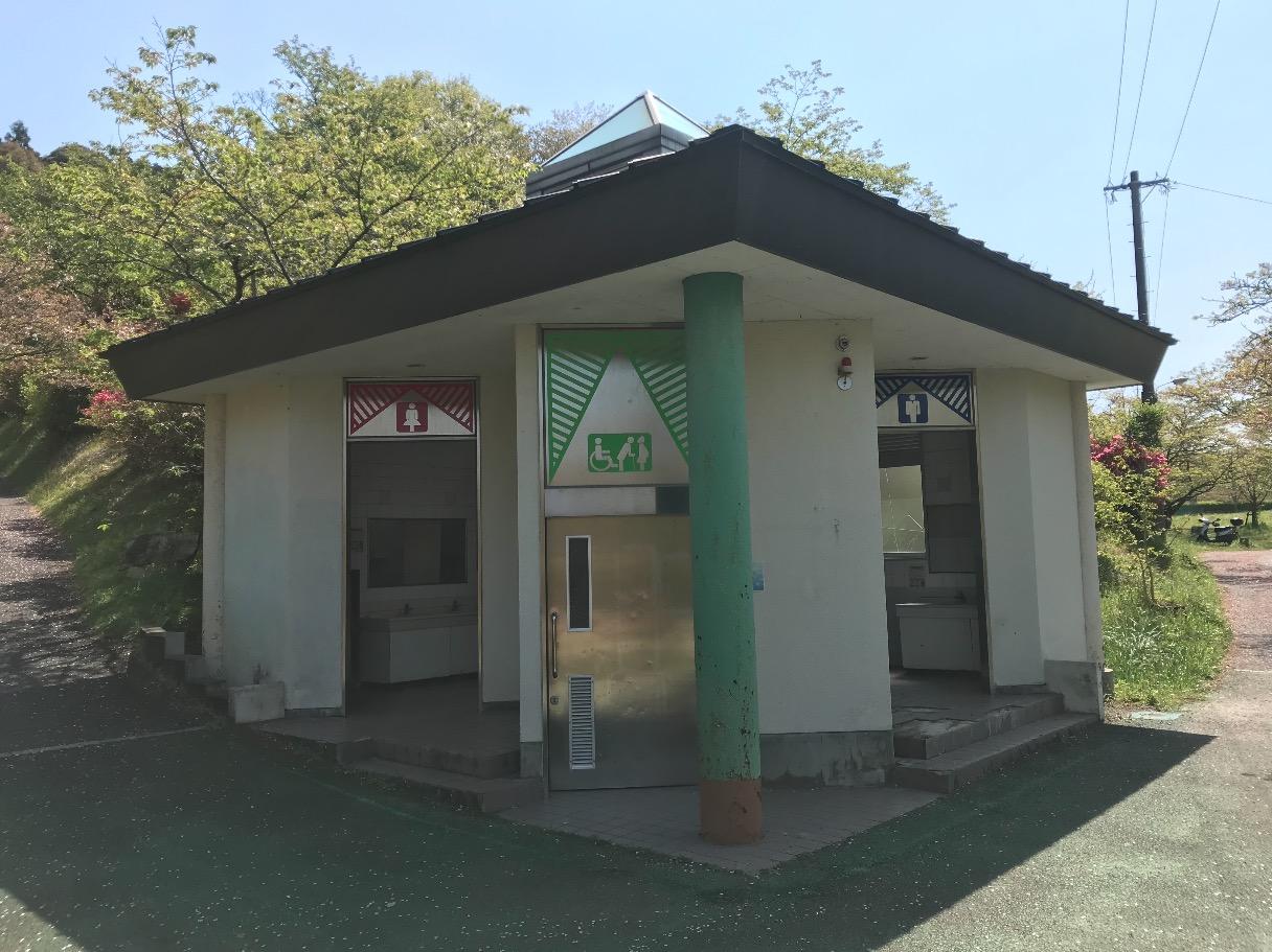 甘木公園のトイレ