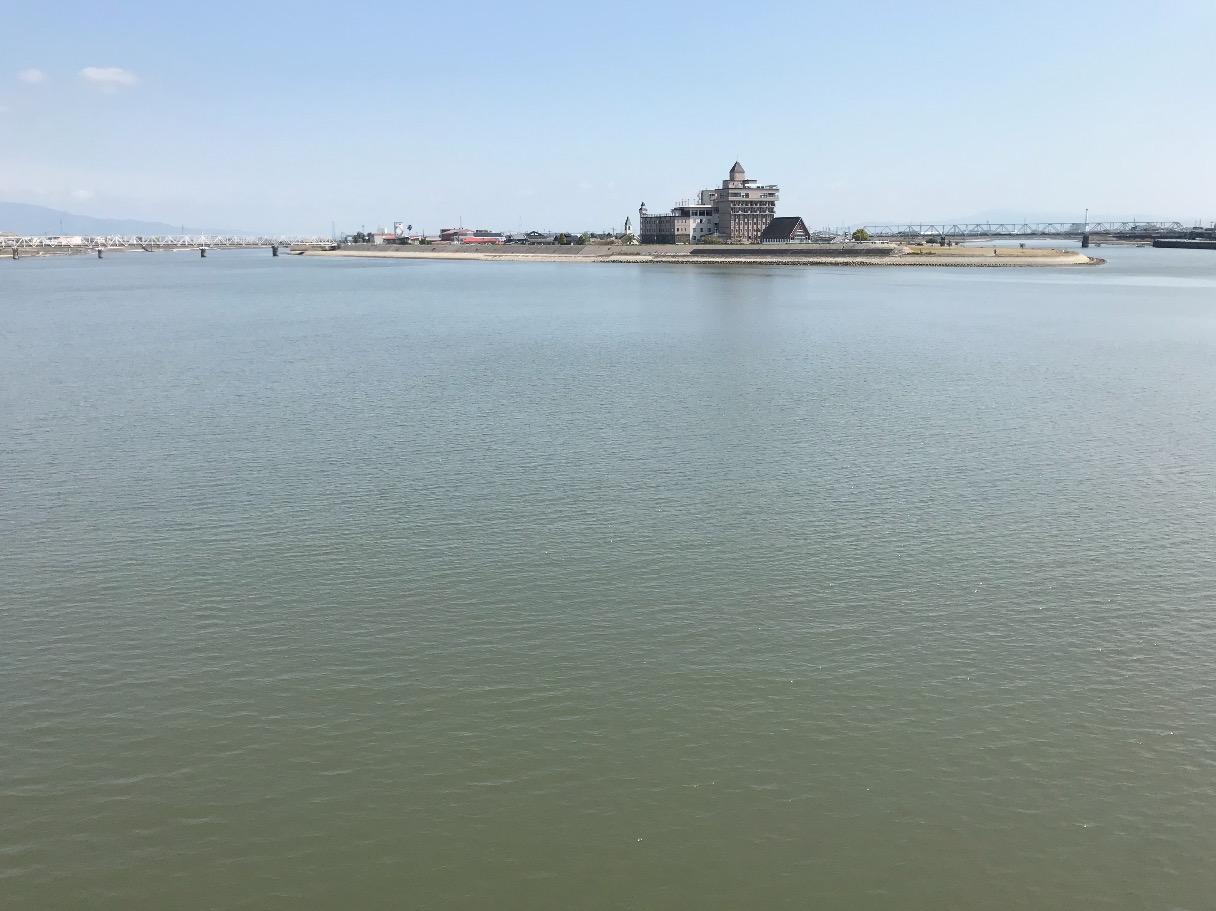 筑後川昇開橋からの眺め