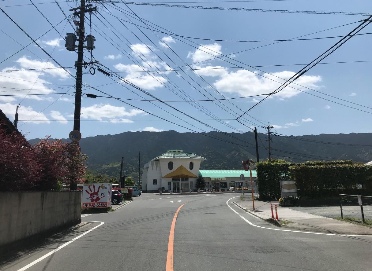 田主丸駅(遠景)