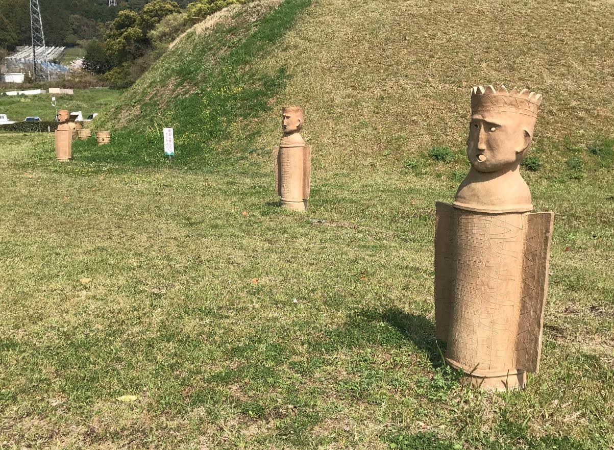 仙道古墳公園の埴輪