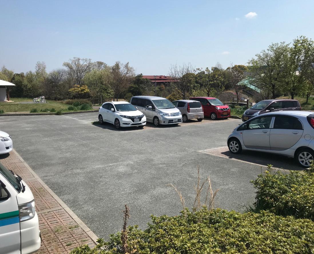 三兼池公園の駐車場