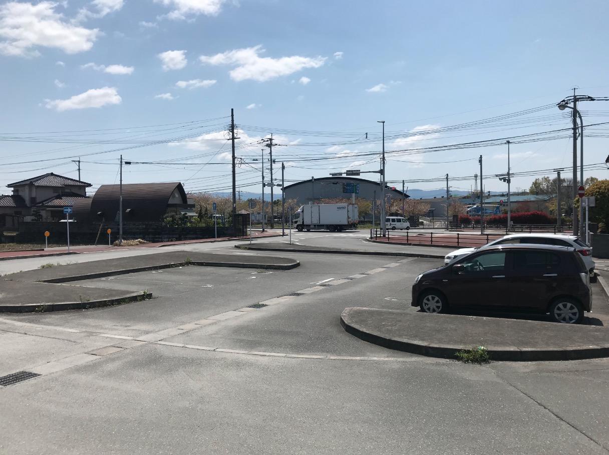 大刀洗レトロステーションの駐車場