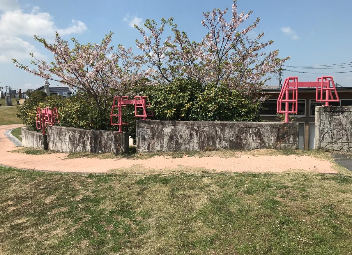 筑後川昇開橋展望公園の装飾