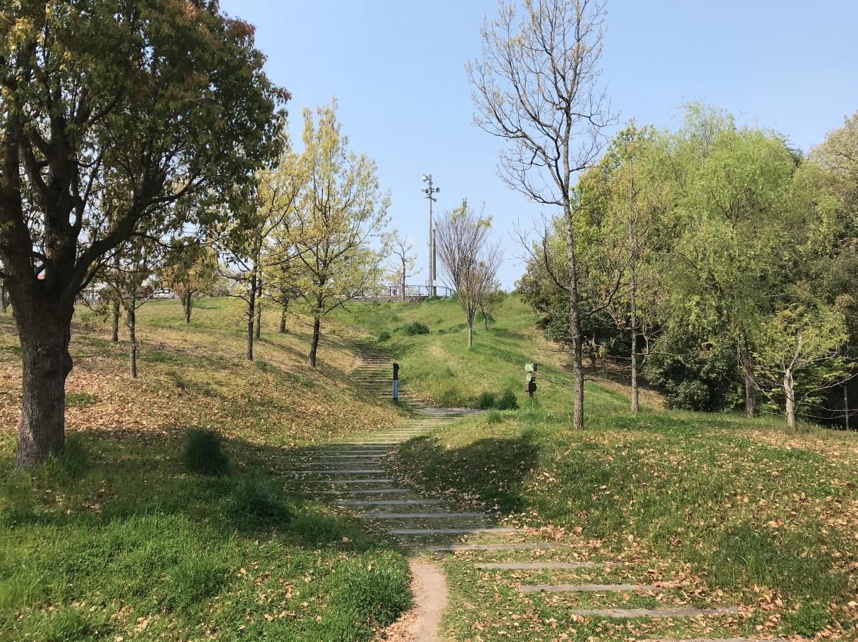 日の浦池公園の遊歩道(大野城市)