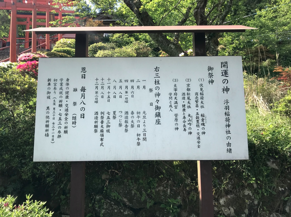 浮羽稲荷神社の案内