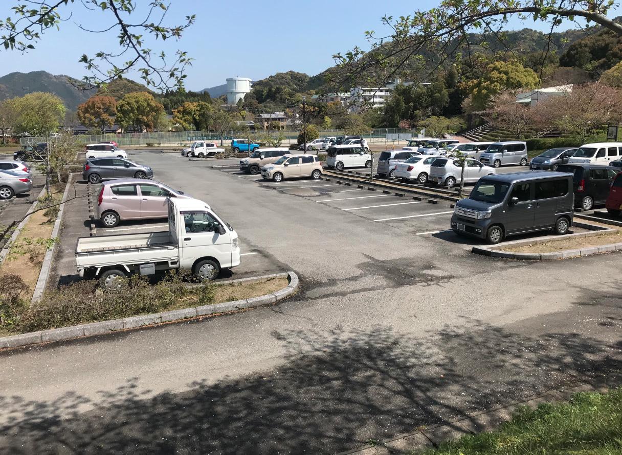 甘木公園の駐車場