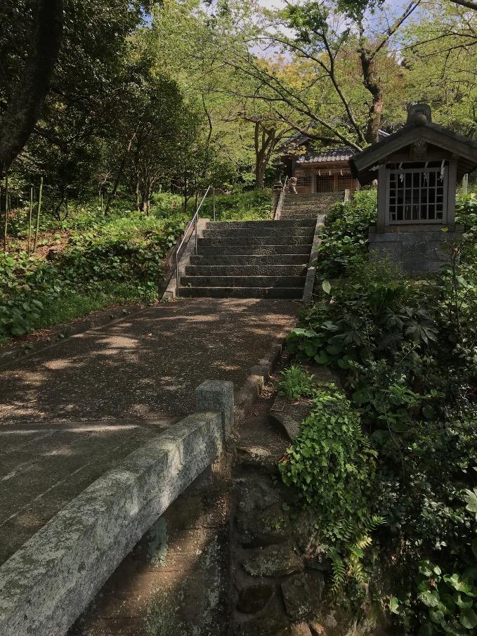 鎮懐石八幡宮(糸島市・福岡)の参道