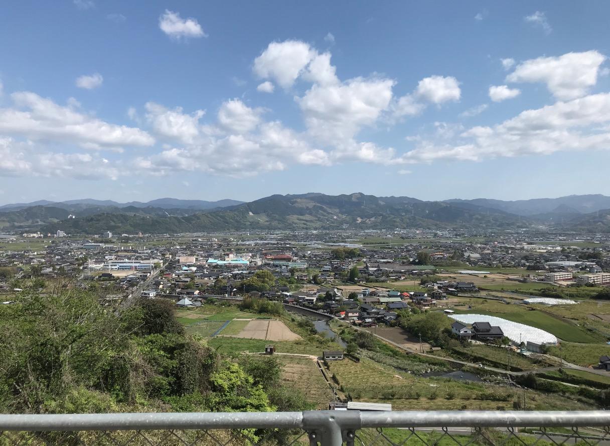 浮羽稲荷神社からの眺望