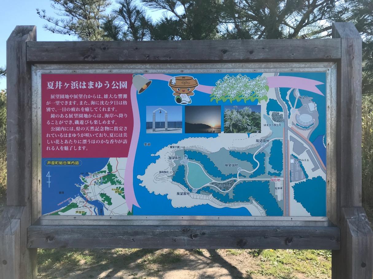夏井ヶ浜はまゆう公園の案内看板