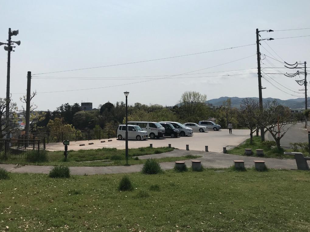 日の浦池公園の駐車場(大野城市)