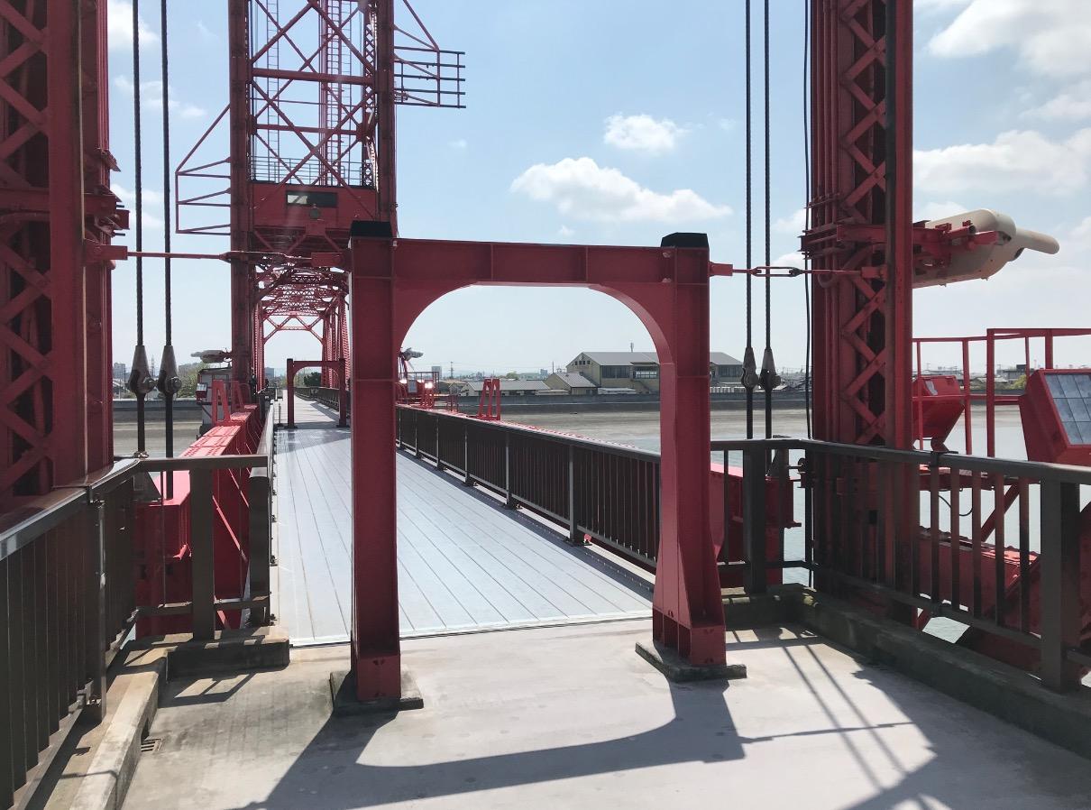 筑後川昇開橋、昇降部へのゲート