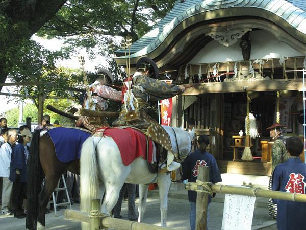 現人神社(那珂川町)の流鏑馬