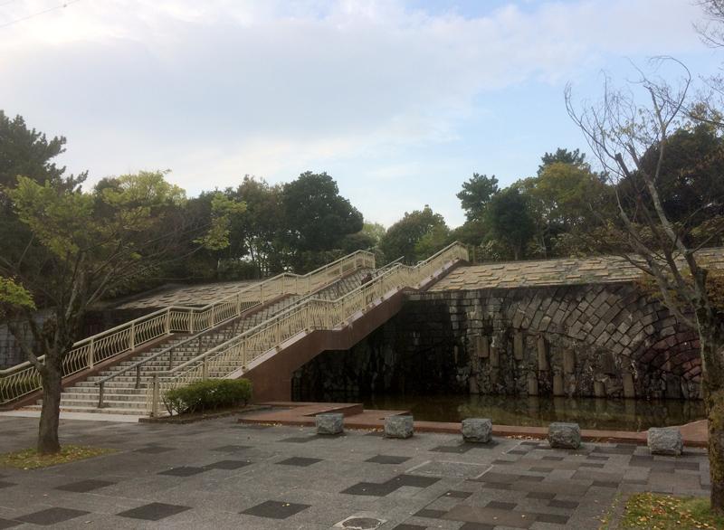 白水大池公園(春日市)の正面入り口付近