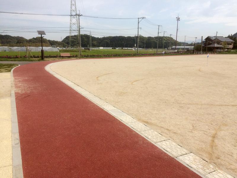 裂田溝公園(那珂川市)のジョギングコース