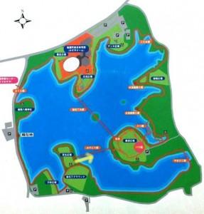 駕与丁公園案内図